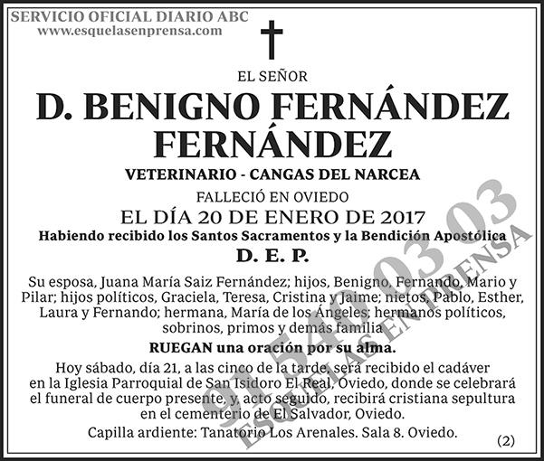 Benigno Fernández Fernández